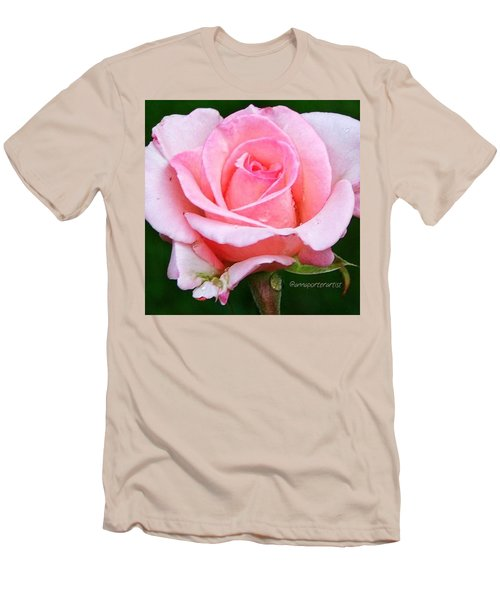 Pale Pink Beauty Men's T-Shirt (Athletic Fit)