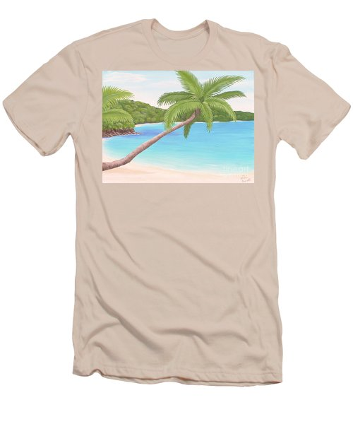 Palm In Paradise Men's T-Shirt (Athletic Fit)