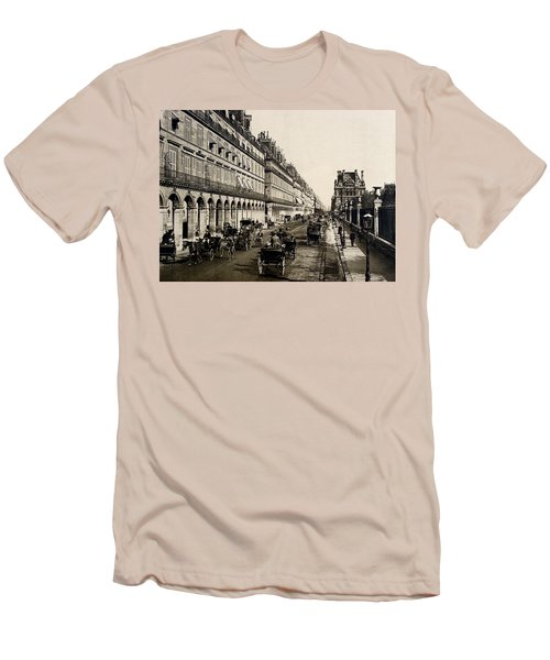 Paris 1900 Rue De Rivoli Men's T-Shirt (Slim Fit) by Ira Shander