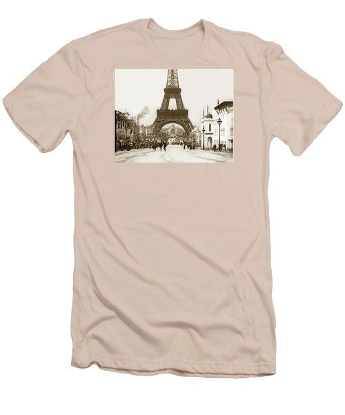 Paris Exposition Eiffel Tower Paris France 1900  Historical Photos Men's T-Shirt (Athletic Fit)