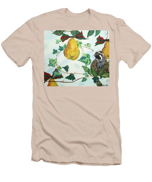 Partridge And  Pears  Men's T-Shirt (Slim Fit) by Reina Resto