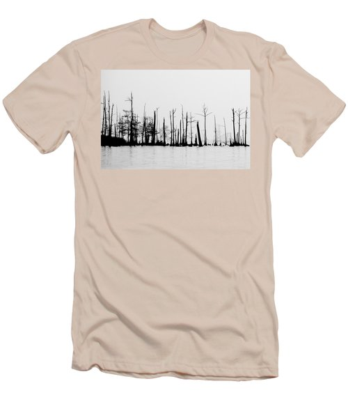 Men's T-Shirt (Slim Fit) featuring the photograph Pass Manchac by Charlotte Schafer