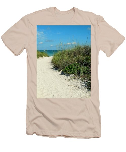 Path To Pass -a- Grille Men's T-Shirt (Slim Fit) by Valerie Reeves