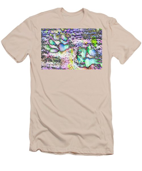 Paw Prints Vibrant Pastel Men's T-Shirt (Athletic Fit)