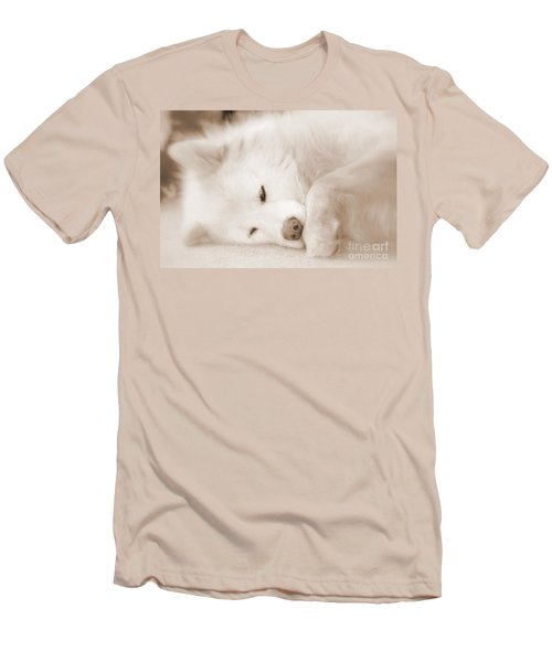 Pawsome Men's T-Shirt (Slim Fit) by Fiona Kennard