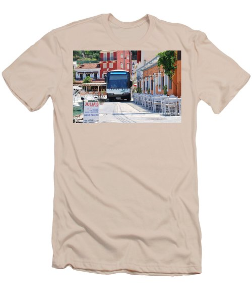 Paxos Island Bus Men's T-Shirt (Athletic Fit)