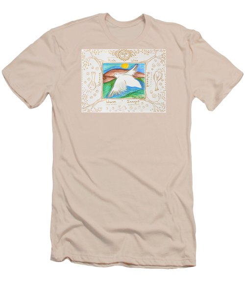 Men's T-Shirt (Slim Fit) featuring the painting Peace Of Heaven by Cassie Sears