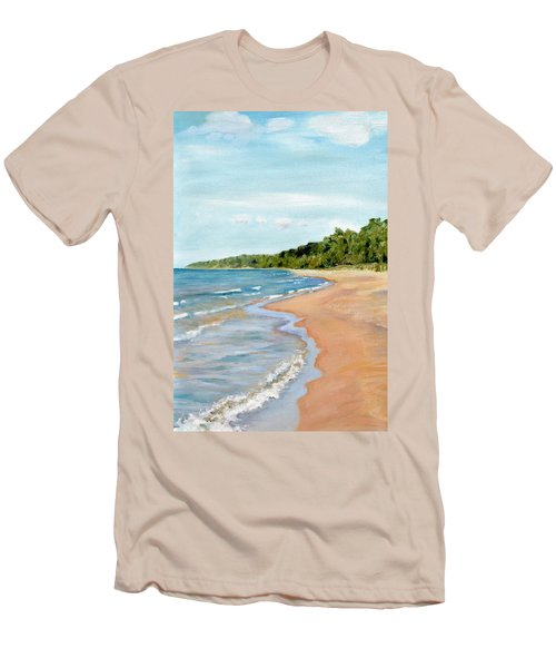 Peaceful Beach At Pier Cove Men's T-Shirt (Athletic Fit)