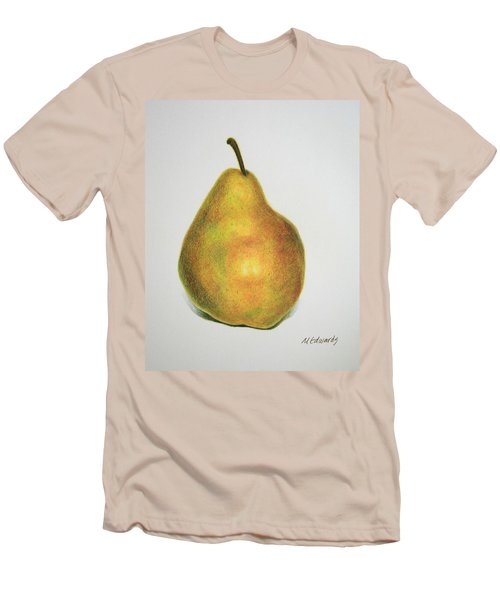 Men's T-Shirt (Slim Fit) featuring the drawing Pear Practice by Marna Edwards Flavell