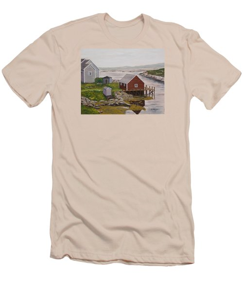 Peggy's Cove Men's T-Shirt (Slim Fit) by Alan Mager
