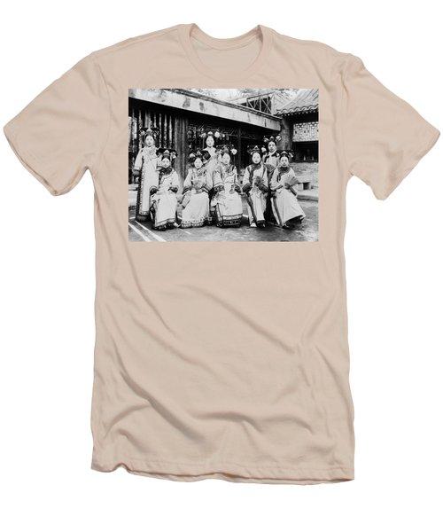 Men's T-Shirt (Slim Fit) featuring the photograph Peking Palace Women by Granger