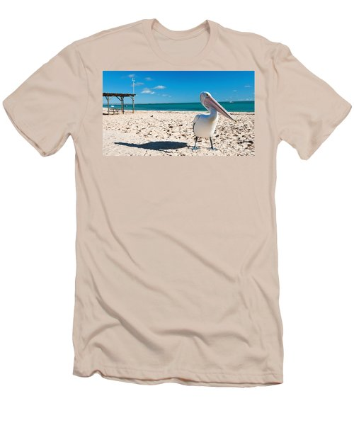 Pelican Under Blue Sky Men's T-Shirt (Athletic Fit)