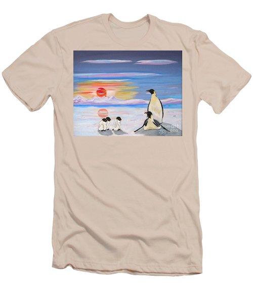 Penguin Family Men's T-Shirt (Slim Fit) by Phyllis Kaltenbach