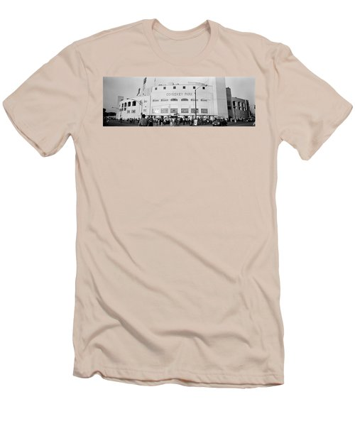 People Outside A Baseball Park, Old Men's T-Shirt (Athletic Fit)