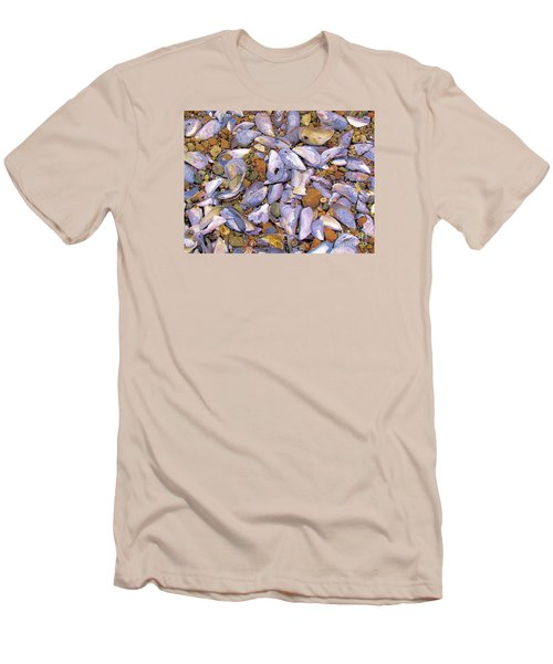Periwinkles Muscles And Clams Men's T-Shirt (Slim Fit) by Elizabeth Dow