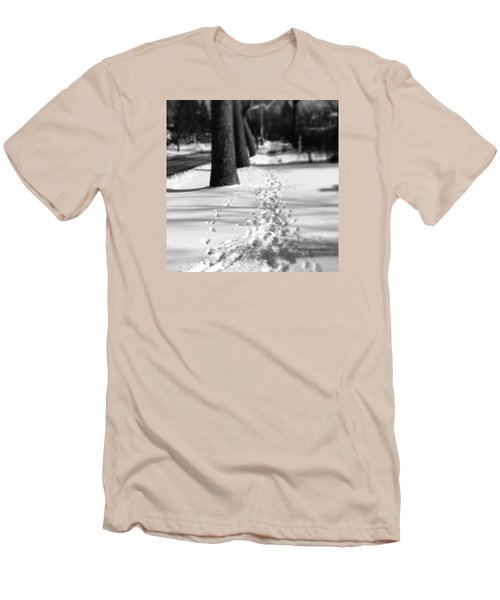 Pet Prints In The Snow Men's T-Shirt (Athletic Fit)