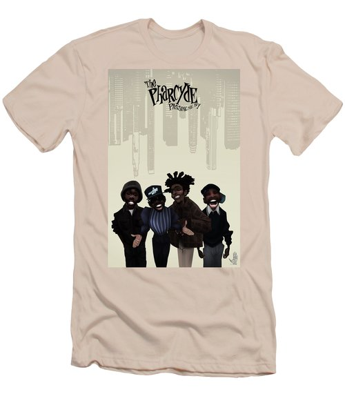 Pharcyde -passing Me By 1 Men's T-Shirt (Slim Fit) by Nelson dedos Garcia