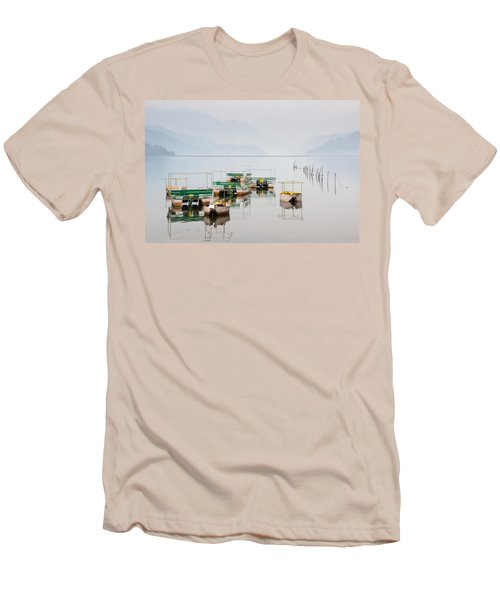 Phewa Lake In Pokhara Nepal Men's T-Shirt (Athletic Fit)