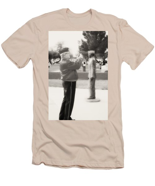 Photographing Ira Hayes Men's T-Shirt (Athletic Fit)