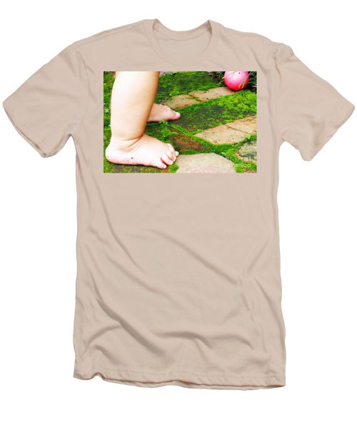 Pink Ball Men's T-Shirt (Slim Fit) by Valerie Reeves