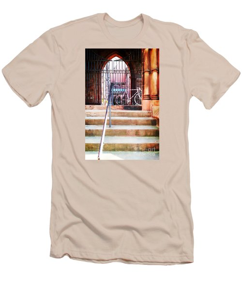 Pink Goes To Church Men's T-Shirt (Athletic Fit)