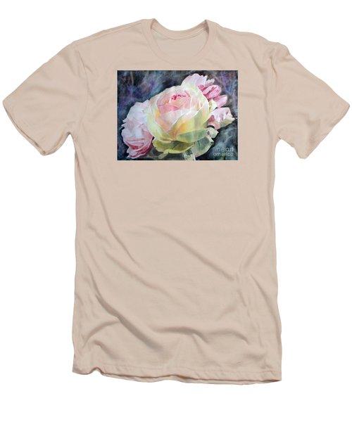 Pink Yellow Rose Angela Men's T-Shirt (Slim Fit) by Greta Corens