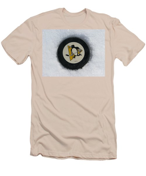 Pittsburgh Penguins Men's T-Shirt (Slim Fit) by Michael Krek