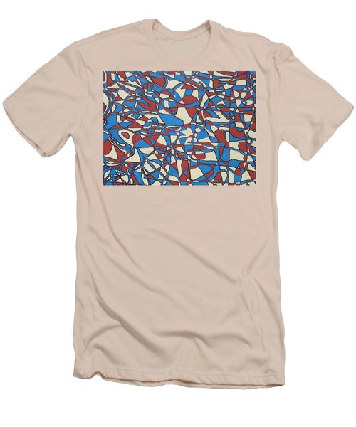Men's T-Shirt (Slim Fit) featuring the painting Planet Abstract by Jonathon Hansen