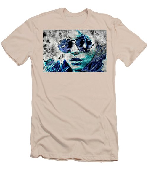 Platinum Blondie Men's T-Shirt (Slim Fit) by Absinthe Art By Michelle LeAnn Scott