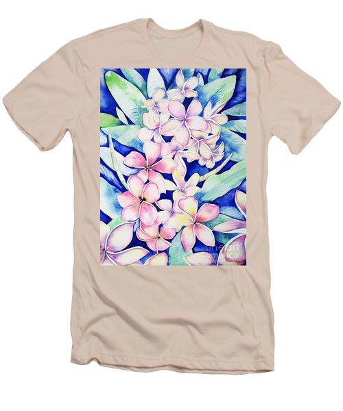 Plumerias Of Maui Men's T-Shirt (Athletic Fit)