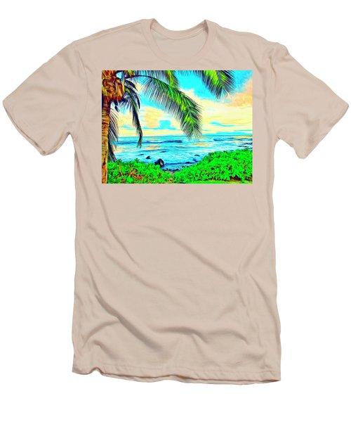 Poipu Sunrise Men's T-Shirt (Athletic Fit)