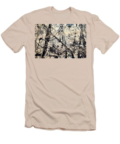 Pollock's Name On Lavendar Mist Men's T-Shirt (Slim Fit)
