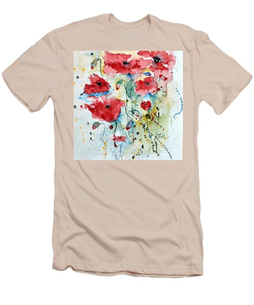 Poppies 04 Men's T-Shirt (Athletic Fit)