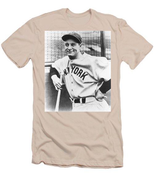 Portrait Of Lou Gehrig Men's T-Shirt (Athletic Fit)