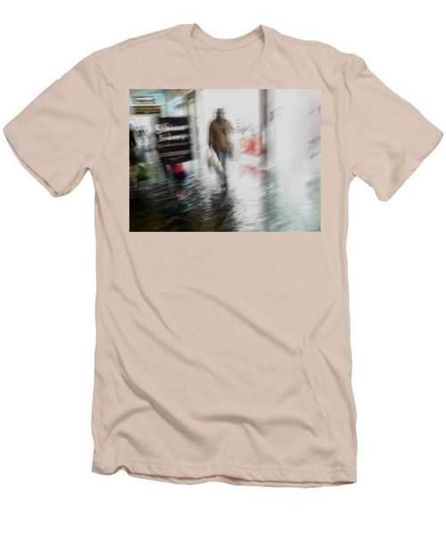 Men's T-Shirt (Slim Fit) featuring the photograph Pounding The Pavement by Alex Lapidus