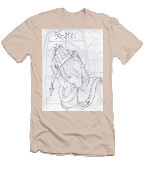 Praying Hands Men's T-Shirt (Athletic Fit)