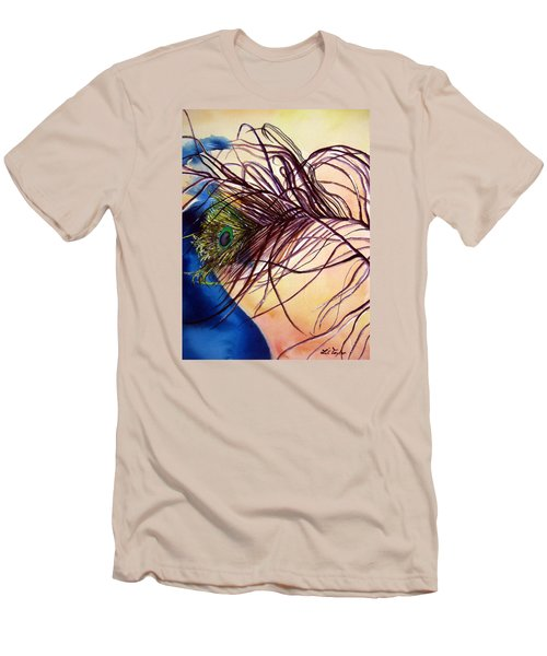 Men's T-Shirt (Slim Fit) featuring the painting Preening For Attention Sold by Lil Taylor