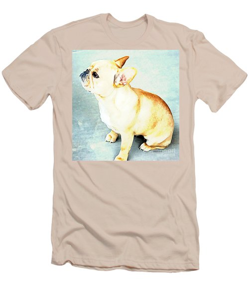 Profile In Frenchie Men's T-Shirt (Slim Fit) by Barbara Chichester