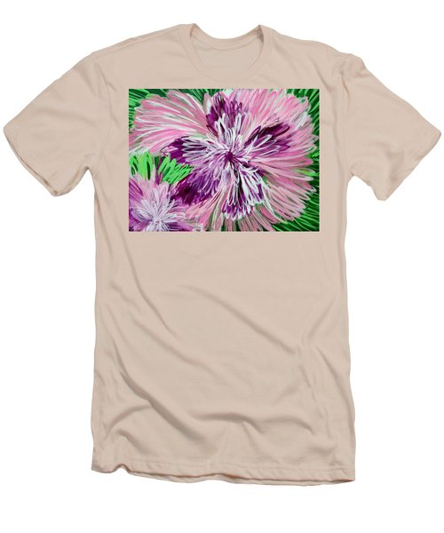 Psychedelic Flower Men's T-Shirt (Athletic Fit)