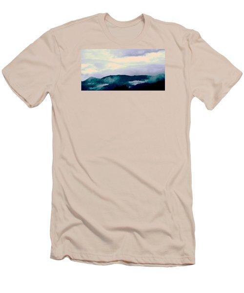 Purple Mountains Majesty Blue Ridge Mountains Men's T-Shirt (Slim Fit) by Kathy Barney