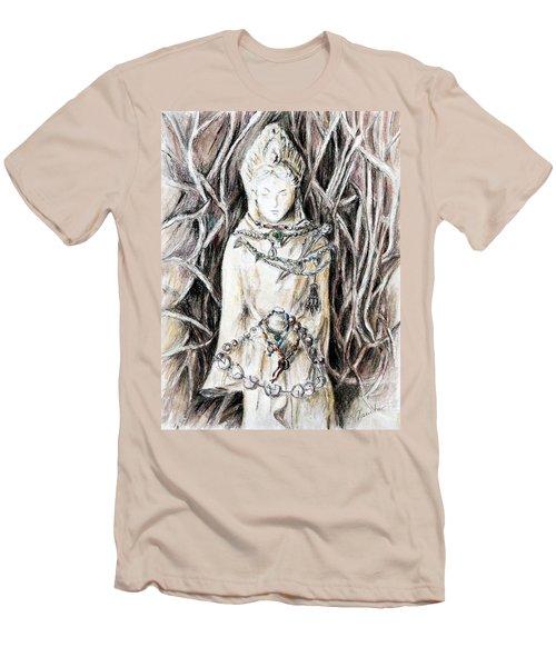 Quan Yin The Guide Through Entangled World Men's T-Shirt (Slim Fit) by Danuta Bennett