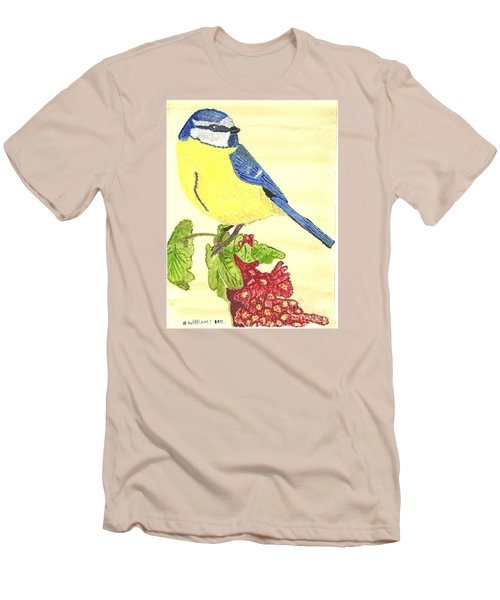 Men's T-Shirt (Slim Fit) featuring the painting Quietly Watching by Tracey Williams