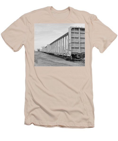 Rail Cars Men's T-Shirt (Athletic Fit)