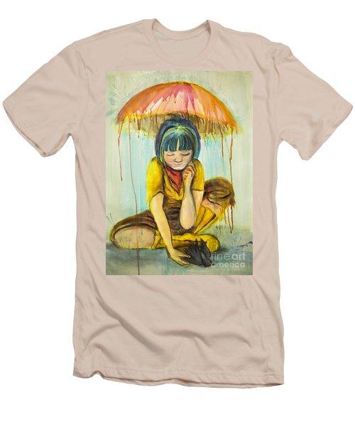 Rain Day  Men's T-Shirt (Athletic Fit)