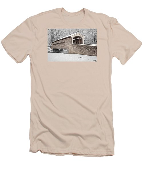 Rapps Bridge In Winter Men's T-Shirt (Slim Fit) by Michael Porchik