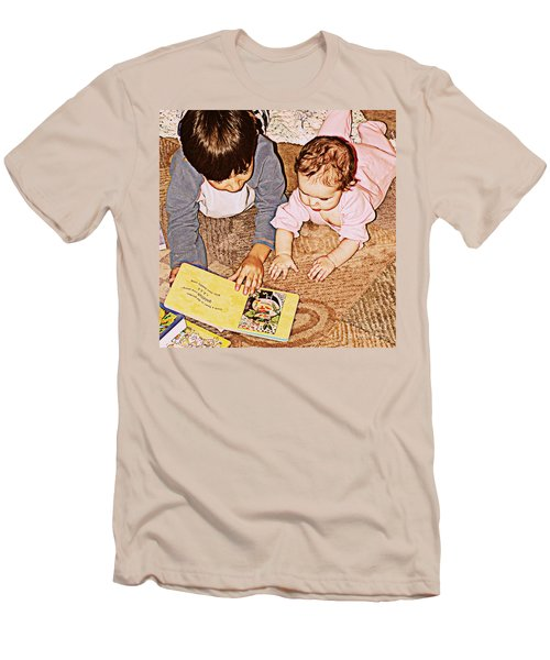 Story Time Men's T-Shirt (Slim Fit) by Valerie Reeves