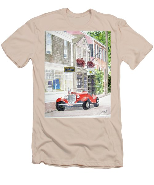 Red Car Men's T-Shirt (Athletic Fit)