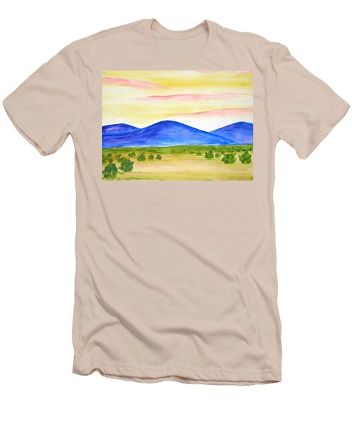 Red Clouds Over Mountains Men's T-Shirt (Athletic Fit)