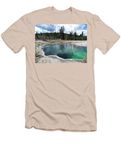 Men's T-Shirt (Slim Fit) featuring the photograph Reflection by Laurel Powell