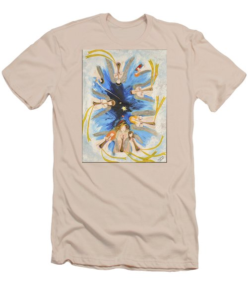 Men's T-Shirt (Slim Fit) featuring the painting Revelation 8-11 by Cassie Sears